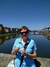 Gelato on the bridge