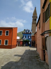 Burano has a leaning tower too!
