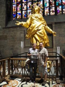 Madonnina - inside Duomo di Milano - Milan Italy