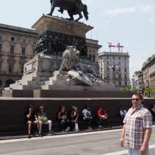 Victory Statue At Piazza Del Duomo - Milan Italy